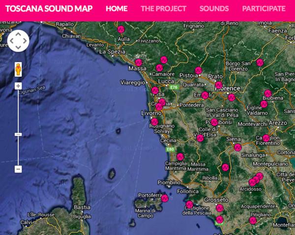 TOSCANA SOUND MAP